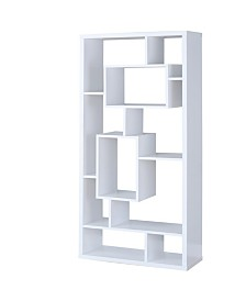 Trenton 10-Shelf Asymmetrical Cube Bookcase