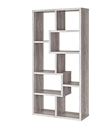Evanston 8-Shelf Staggered Bookcase