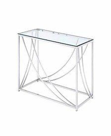 Malibu Rectangular Sofa Table with Swoop Accents