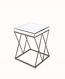 Florence Mirrored End Table