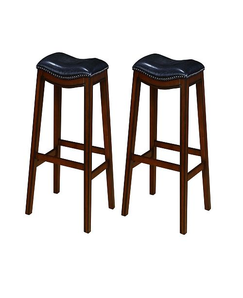 Sensational Bonifacio Upholstered Backless Bar Stools With Nailhead Trim Set Of 2 Cjindustries Chair Design For Home Cjindustriesco