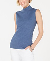 7cb594cc Karen Scott Mock-Neck Sleeveless Top, Created for Macy's