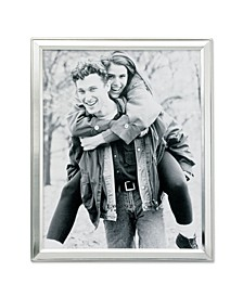 "Brushed Silver Plated Metal Picture Frame - 4"" x 6"""