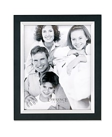 "Lawrence Frames Black Wood with Silver Metal Inner Bezel Picture Frame - 11"" x 14"""