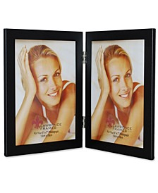 "Black Hinged Double Metal Picture Frame - 5"" x 7"""