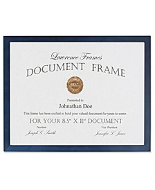 "Blue Wood Certificate Picture Frame - Gallery Collection - 8.5"" x 11"""