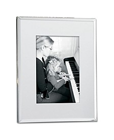 "Silver Plated Matted Picture Frame - 8"" x 10"""
