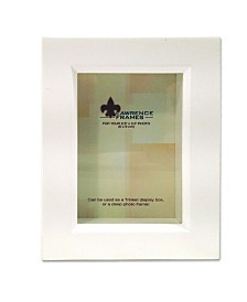 "Lawrence Frames 795223 White Wood Treasure Box Shadow Box Picture Frame - 2.5"" x 3.5"""