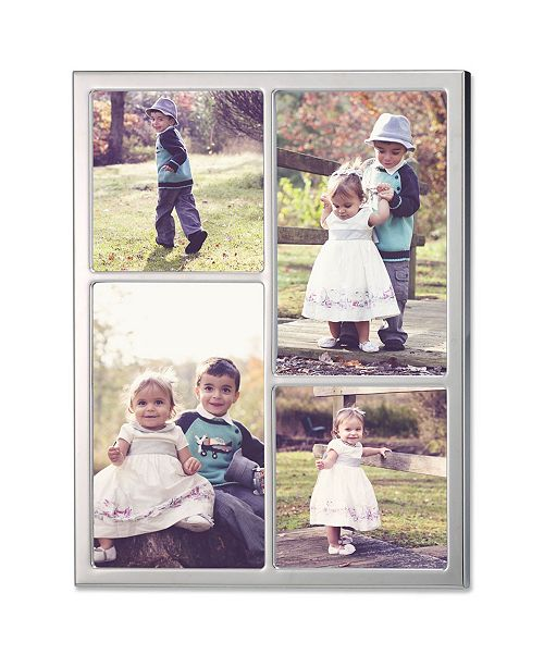 Lawrence Frames 710688 Silver Standard Metal Four Opening Picture Frame