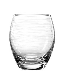 Qualia Glass Graffiti Double Old Fashioned Glasses, Set Of 4