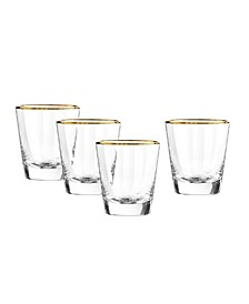 Dominion Gold Double Old Fashioned Glasses, Set Of 4