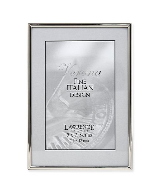 """Lawrence Frames Simply Silver Metal Picture Frame - 5"""" x 7"""""""