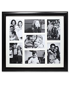 "Black Collage Frame - Seven Opening Gallery Frame - 4"" x 6"""