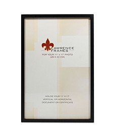 """Black Wood Picture Frame - Gallery Collection - 11"""" x 17"""""""