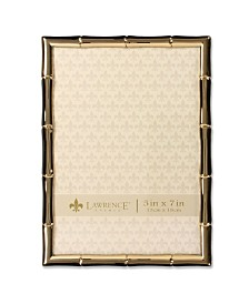 "Lawrence Frames Gold Metal Picture Frame with Bamboo Design - 5"" x 7"""