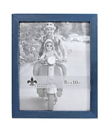 """Charlotte Weathered Navy Blue Wood Picture Frame - 8"""" x 10"""""""