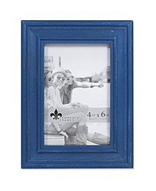 """Durham Weathered Navy Blue Wood Picture Frame - 4"""" x 6"""""""