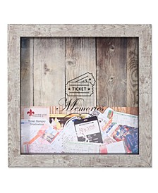 "Weathered Birch Shadow Box Ticket Holder - 10"" x 10"""