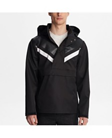 Karl Lagerfeld Paris Chevron Anorak Pull Over Jacket