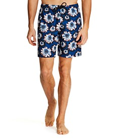 Tallia Men's Modern-Fit Floral Swim Trunks
