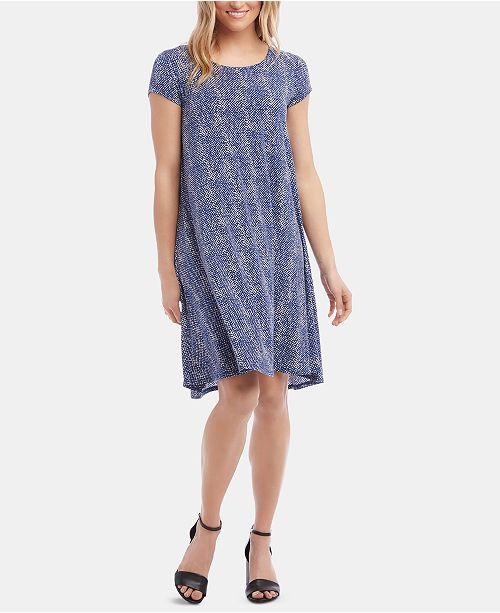 Karen Kane Maggie Abstract-Print Trapeze Dress