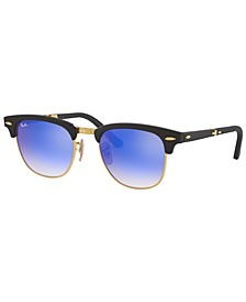 Sunglasses, RB2176 CLUBMASTER FOLDING FLASH LENSES GRADIENT
