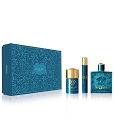 Versace Men's 3-Pc. Eros Eau de Toilette Gift Set