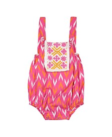 Masala Baby Girls Beach One Piece Ikat Geo