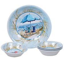 Certified International Ocean View Melamine 5-Pc. Salad/Serving Set