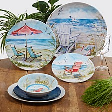 Ocean View Melamine Dinnerware Collection