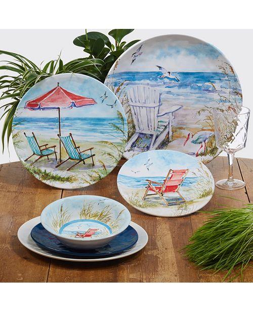 Certified International Ocean View Melamine Dinnerware Collection