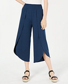 American Rag Juniors' Cropped Wrap Pants, Created for Macy's