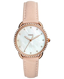 Women's Tailor Blush Leather Strap Watch 35mm