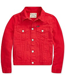 Polo Ralph Lauren Big Girls Cotton Denim Trucker Jacket