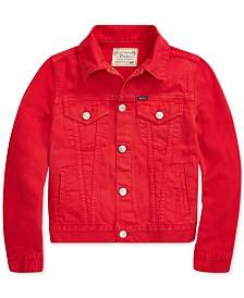 Polo Ralph Lauren Big Girls Cotton Denim Trucker Jacket