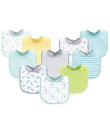 Drooler Bibs, 10 Pack, One Size