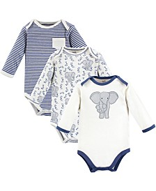Touched By Nature Organic Cotton Bodysuit, 3 Pack, Premie-24 Months
