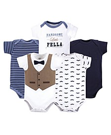 Cotton Bodysuits, 5 Pack, 0-24 Months