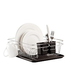 Kitchen Details Twisted Chrome 3 Piece Dish Rack