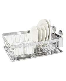 Kitchen Details Drying Rack with Tray in Pave Diamond Design