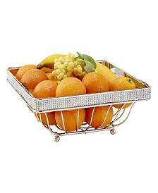 Kitchen Details Fruit Basket in Pave Diamond Design