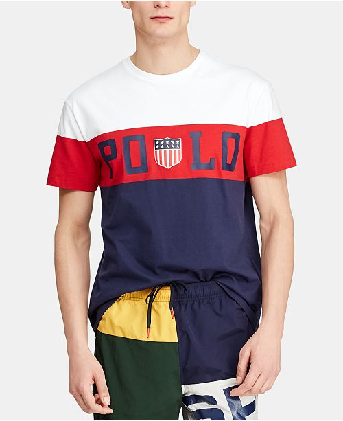 d0aafb8107 ... Polo Ralph Lauren Men's Custom Slim Fit Graphic Chariots T-Shirt ...