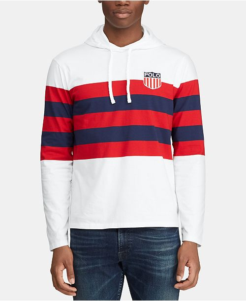 Polo Ralph Lauren Men's Hooded Long-Sleeve Chariots T-Shirt