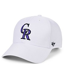 '47 Brand Colorado Rockies White MVP Cap