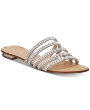 Image of Aldo Droelian Flat Studded Sandals Women's Shoes