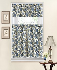 "Navarra 26"" x 36"" Tier and 52"" x 14"" Valance Set"