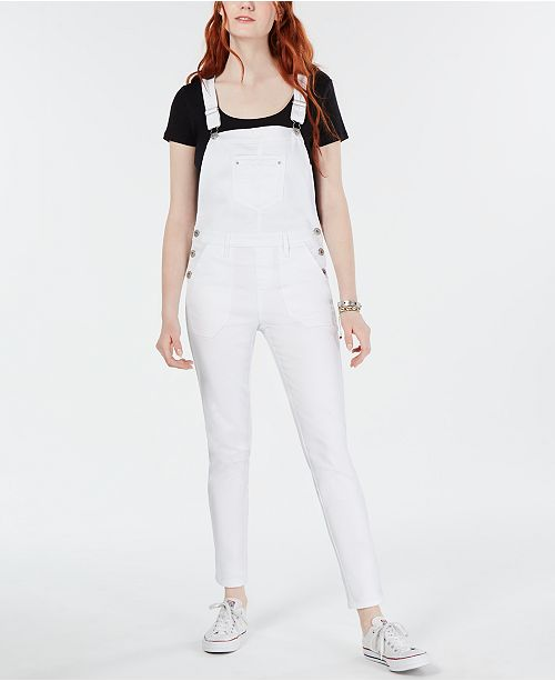 American Rag Juniors' Skinny Denim Overalls, Created for Macy's