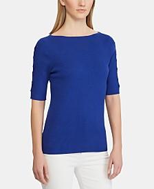 Lauren Ralph Lauren Lace-Up-Sleeve Sweater