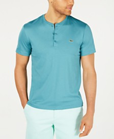 Lacoste Men's Henley Neck Pima Cotton Jersey T-shirt