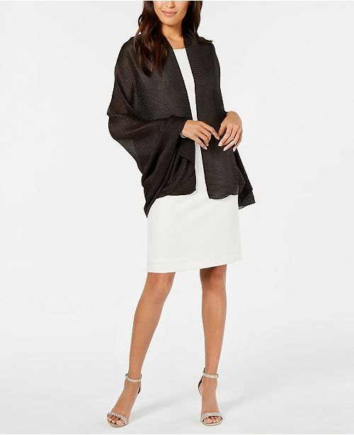 INC International Concepts I.N.C. Pleated Lightweight Evening Wrap, Created for Macy's